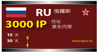 Russia - 3000 IP proxies