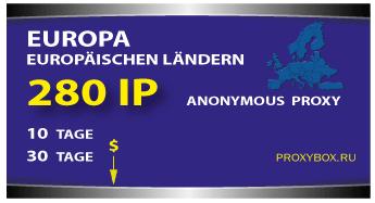 Europa 280 IP der Adressen