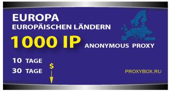 Proxy Europe, 1000 IP-Adressen