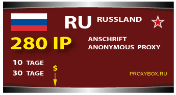 Russland 280 IP Proxies