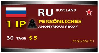 Der Persönliche proxy 1 IP Rusland