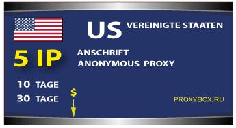 US-Proxy 5 von IP-Adressen