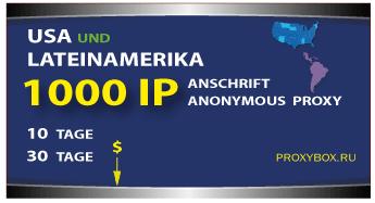 Liste der amerikanischen Proxy und Lateinamerika in 1000 von IP-Adressen