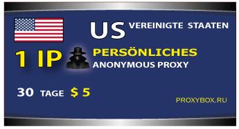 US-IP-Adresse 1 Personal Proxy
