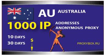 AUSTRALIA anonymous proxies 1000 IP