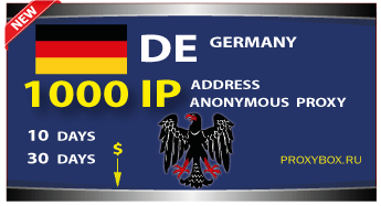 GERMAN anonymous proxies 1000 IP