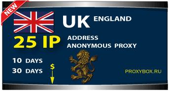 ENGLISH anonymous proxies 25 IP