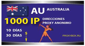 AUSTRALIA proxies 1000 IP