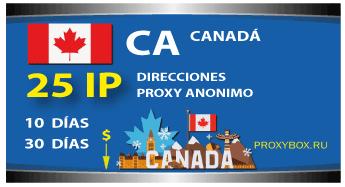 CANADÁ 25 IP proxy