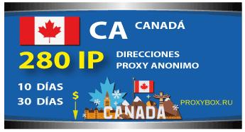 CANADÁ 280 IP proxy