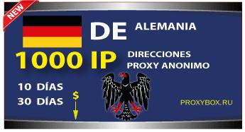 ALEMANIA proxies 1000 IP
