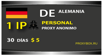 DE personal 1 IP proxy