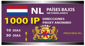 PAÍSES BAJOS proxies 1000 IP
