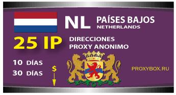 PAÍSES BAJOS 25 IP proxy