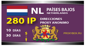 PAÍSES BAJOS 280 IP proxy