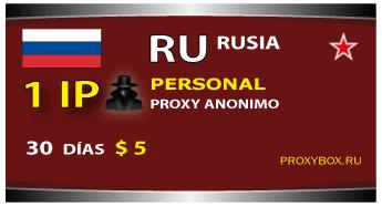 RUSIA 1 Personal proxy