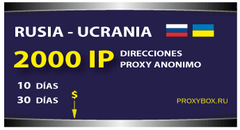 RU y UA 2000 IP proxies
