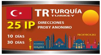 TURQUÍA 25 IP proxy