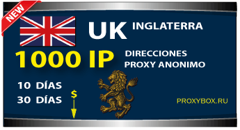 INGLATERRA proxies 1000 IP