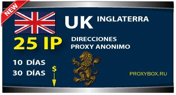 INGLATERRA 25 IP proxy