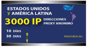 US - LATIN 3000 IP proxies