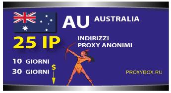 Proxy AUSTRALIA 25 indirizzi IP.