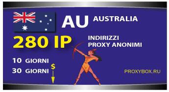 Proxy AUSTRALIA 280 indirizzi IP.
