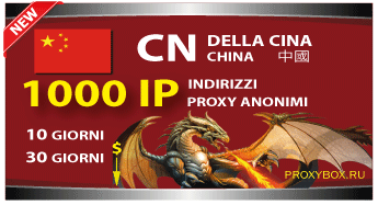 CINESE 1000 indirizzi proxy IP