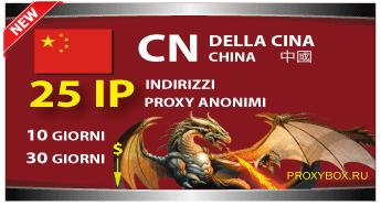 CINESE 25 indirizzi proxy IP