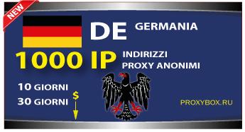 Proxy TEDESCO 1000 indirizzi IP.