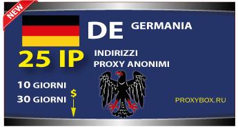 Proxy TEDESCO 25 indirizzi IP.