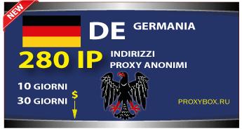 Proxy TEDESCO 280 indirizzi IP.