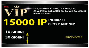 15000 IP Proxy Anonimi