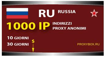 Russia proxy 1000 IP