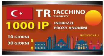 TACCHINO 1000 indirizzi proxy IP