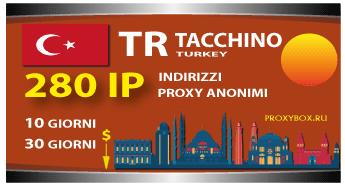 TACCHINO 280 indirizzi proxy IP