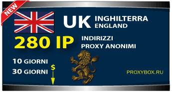 Proxy inglese 280 indirizzi IP.