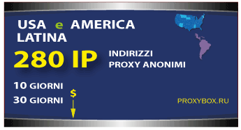 USA e LATINA 280 IP