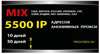 5500 IP, анонимных прокси