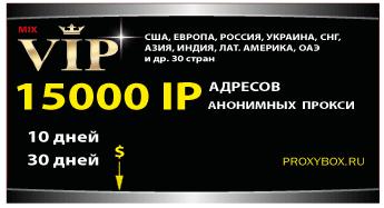 15000 IP, анонимных прокси