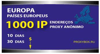 EUROPE 1000 IP. Proxy anônimo