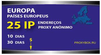 EUROPE 25 IP. Proxy anônimo