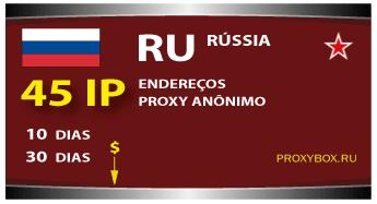 45 proxies anônimos