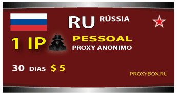 Rússia 1 proxy pessoal anônimo IP