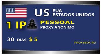 EUA - 1 proxy pessoal anônimo IP