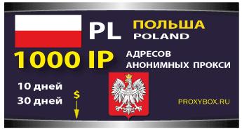 Прокси Польши 1000 IP адресов
