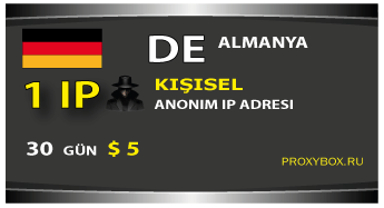 Almanya - kişisel bir IP adresi