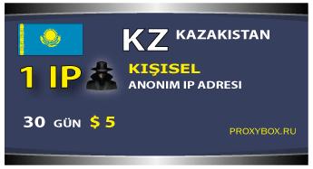 Kazakistan - kişisel bir IP adresi