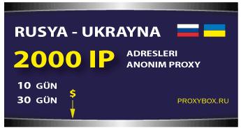 Rusya ve Ukrayna 2000 IP adresleri