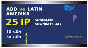 ABD ve Latin Amerika - 25 IP Adresi